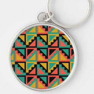 Primitive Mexican Steps Pattern Keychain