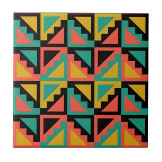 Primitive Mexican Steps Pattern Ceramic Tiles