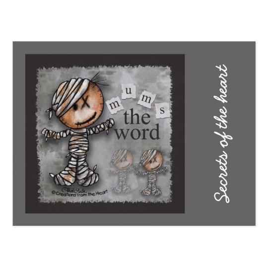 Primitive Mummy-Mums the Word Postcard