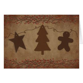 Primitive Ornaments Card