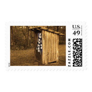 Primitive Outhouse Postage