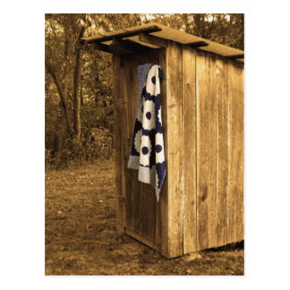 Primitive Outhouse Post Card