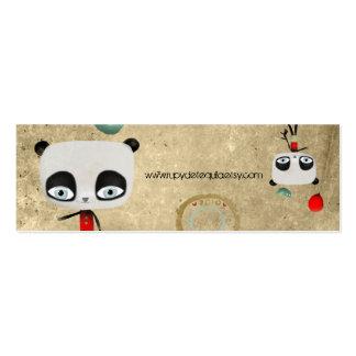 Primitive Panda bear bird fairy happy birthday Business Cards