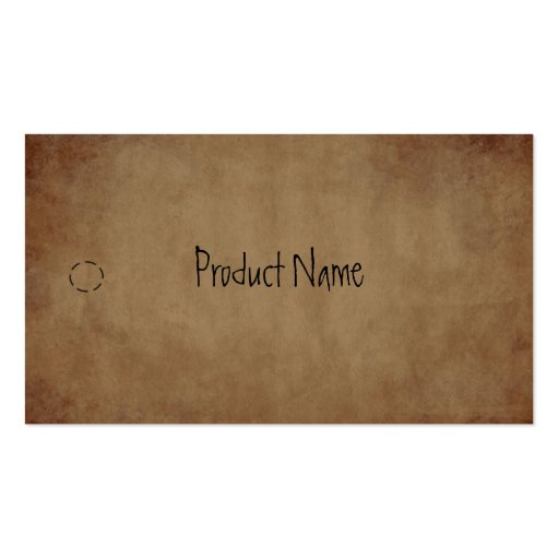Primitive Paper Hang Tag Business Card Template