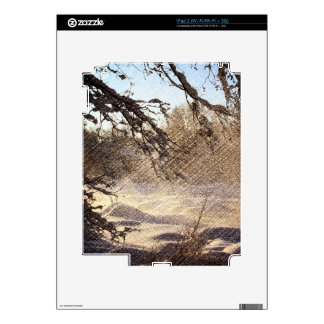 Primitive Pine Tree Woodland Winter Forest Skins For The iPad 2