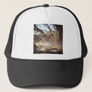 Primitive Pine Tree Woodland Winter Forest Trucker Hat