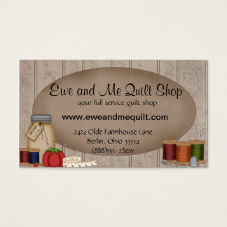 Primitive Quilt Shop Business Card Template