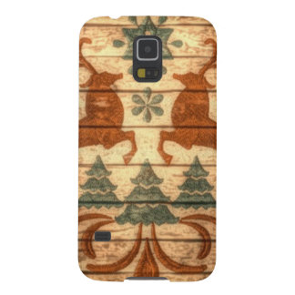 Primitive Reindeer Snowflakes Nordic christmas Case For Galaxy S5
