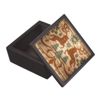 Primitive Reindeer Snowflakes Nordic christmas Gift Box