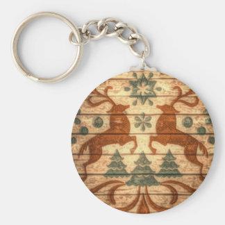 Primitive Reindeer Snowflakes Nordic christmas Keychain