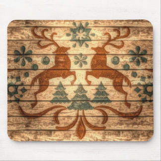 Primitive Reindeer Snowflakes Nordic christmas Mouse Pad