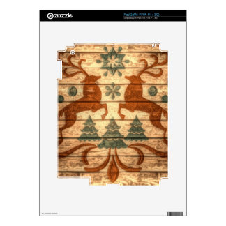 Primitive Reindeer Snowflakes Nordic christmas Skin For iPad 2