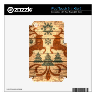 Primitive Reindeer Snowflakes Nordic christmas Skins For iPod Touch 4G