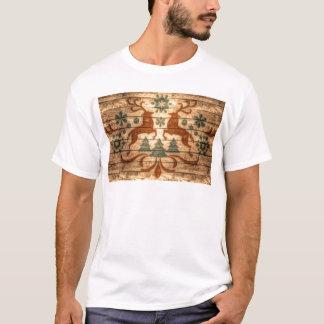 Primitive Reindeer Snowflakes Nordic christmas T-Shirt