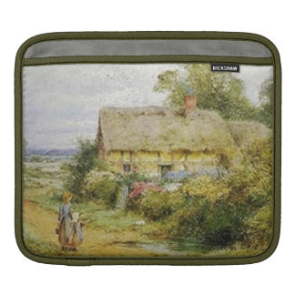 Primitive Retro Vintage Country Cottage Children Sleeve For iPads