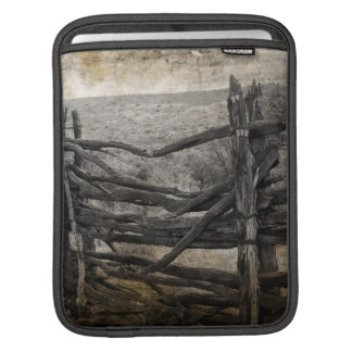 Primitive rural west country Rustic Farm Fence iPad Sleeve