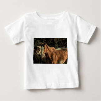 Primitive rustic western country wild horse baby T-Shirt