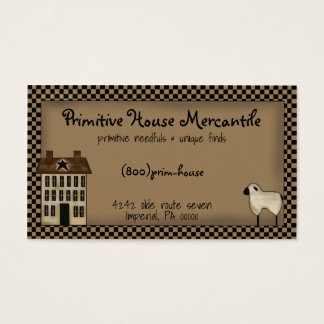 Primitive Saltbox House Business Card