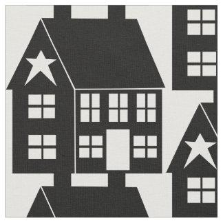 Primitive Saltbox House Fabric