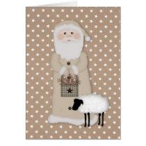 Primitive Santa Card