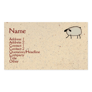 Primitive Sheep Business Card