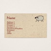 Primitive Sheep Business Card
