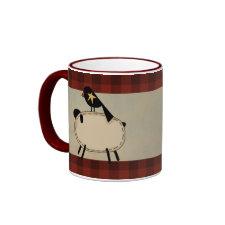 primitive sheep mug mug