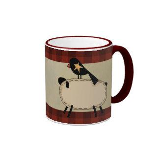 primitive sheep mug
