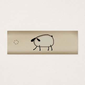 Primitive Sheep Skinny Hang Tag