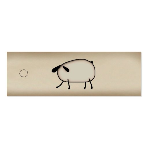 Primitive Sheep Skinny Hang Tag Business Card