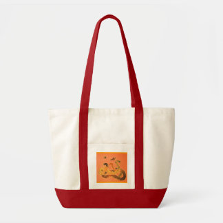 Primitive Snakes and Butterflies Design Tote Bag