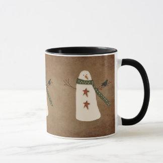 Primitive Snowman Mug