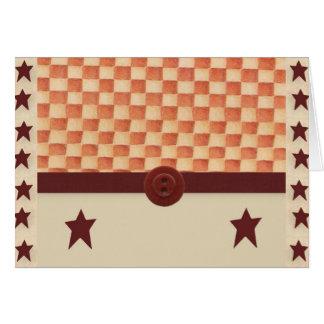 Primitive Star Note Card
