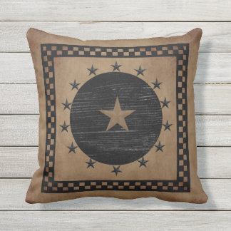 Primitive Star Outdoor Pillow