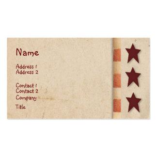 Primitive Stars Business Card