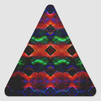 Primitive Textured Shapes Triangle Sticker