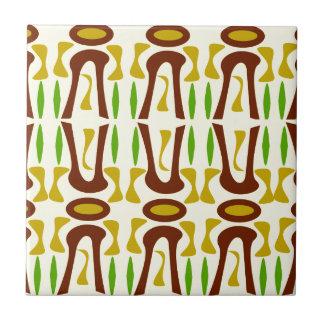 Primitive Tiki Jungle Pattern Ceramic Tile