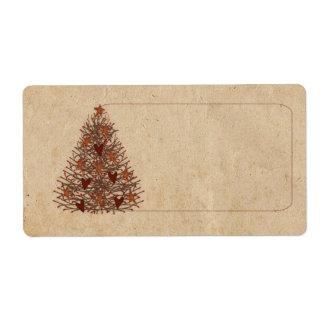 Primitive Tree Label Shipping Label