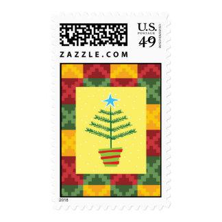 primitive tree postage stamps