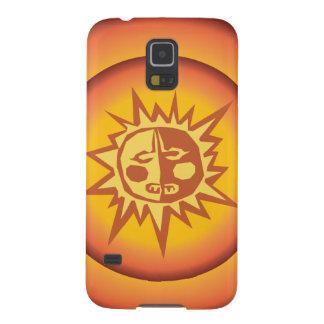 Primitive Tribal Sun Design Red Orange Glow Case For Galaxy S5
