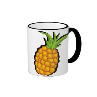 primitive vivid pineapple mugs