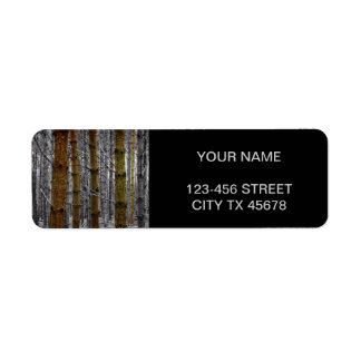 Primitive Western Country Camouflage Pine Trees Label