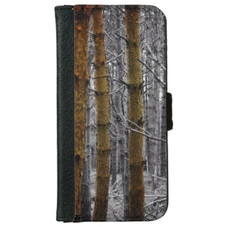 Primitive Western Country Camouflage Pine Trees Wallet Phone Case For iPhone 6/6s