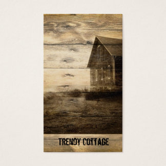 primitive western country farmhouse country cabin business card