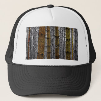 Primitive Western Country Forest Pine Trees Trucker Hat