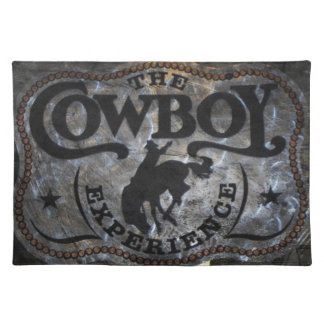 Primitive western country Horse cowboy rodeo Cloth Placemat