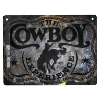 Primitive western country Horse cowboy rodeo Dry Erase Board With Keychain Holder