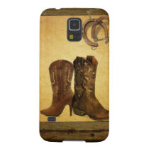 primitive western country horseshoe cowboy boots galaxy s5 case