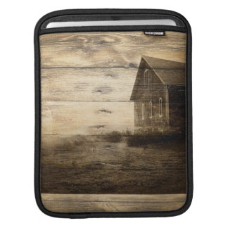primitive western country old barn farmhouse cabin iPad sleeve