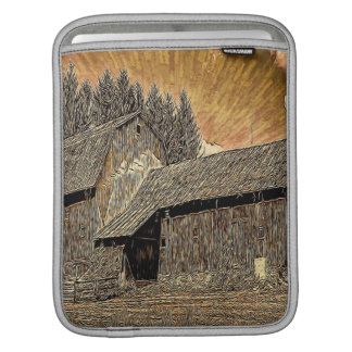Primitive Western country old barn farmhouse Sleeve For iPads